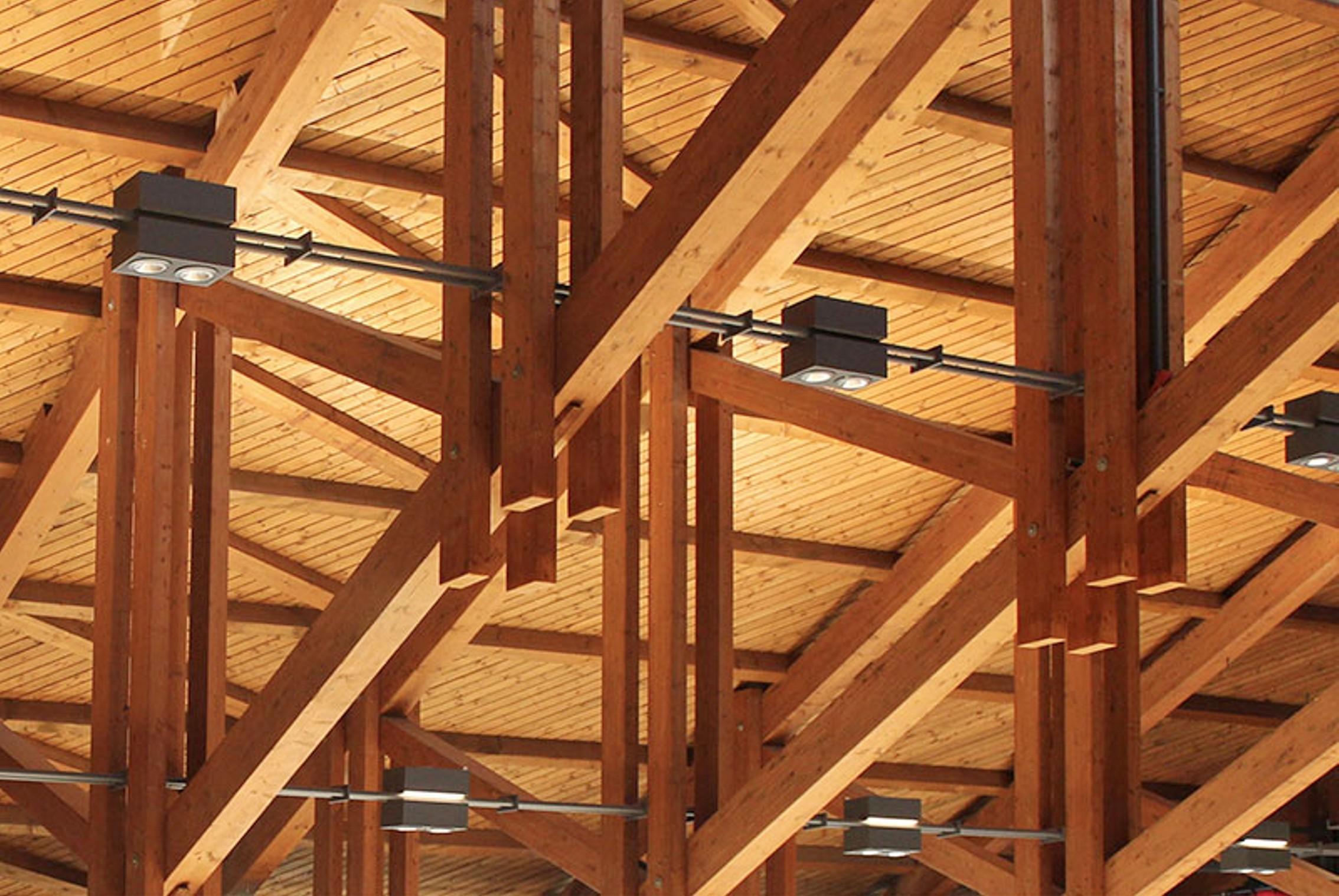 von Malm licht+gestaltung Freiburg Lichtplanung Ausschnitt_Deckenbeleuchtungstruktur Sonderleuchte